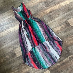 High-Low Multi Colored Sundress
